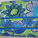 New Vera Bradley small cosmetic case Doodle Daisy Blue white Green