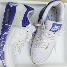 Nike Air Max 90 Womens White Purple sneakers size 8.5 325213-112