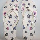 Coach Abbigail White Red Blue Star Flip Flop Sandal Size 6 women