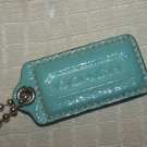 COACH Large Blue Patent Leather Fob HangTag
