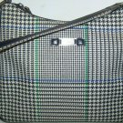 Classic Ralph Lauren Houndstooth Shoulder Purse Handbag blue green white