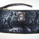 New DKNY Donna Karan wristlet wallet leather snake print