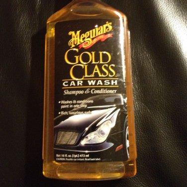 New Meguiar's G7116 Gold Class Wash Shampoo & Conditioner 16 OZ Car Protection