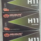 premium HELIOLITE Halogen H11 Headlight Bulbs 12V/55W ( 5 pcs )