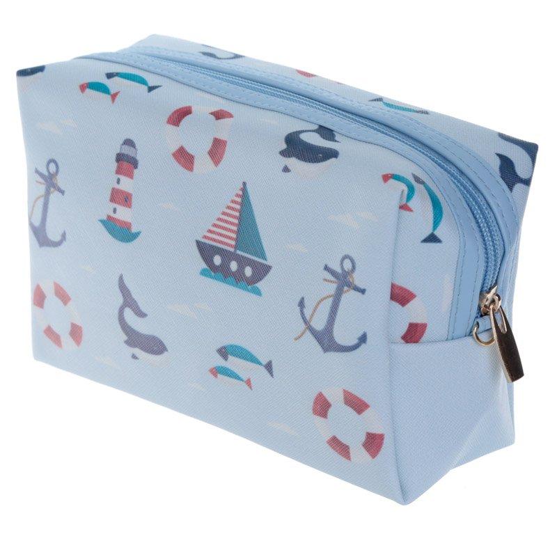 Handy PVC Make Up Toilette Wash Bag - Nautical