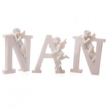 Cute Cherub NAN Letters Ornament
