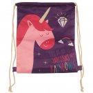 Handy Drawstring Bag - Rainbow Unicorn Slogan