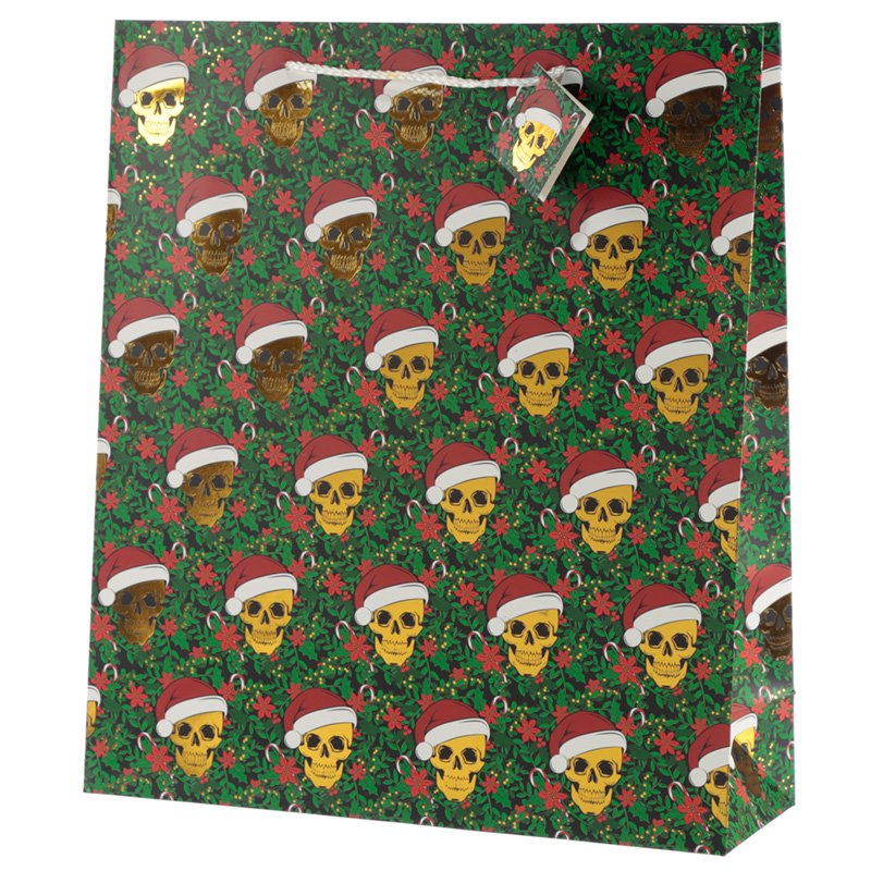 Metallic Skulls Extra Large Christmas Gift Bag