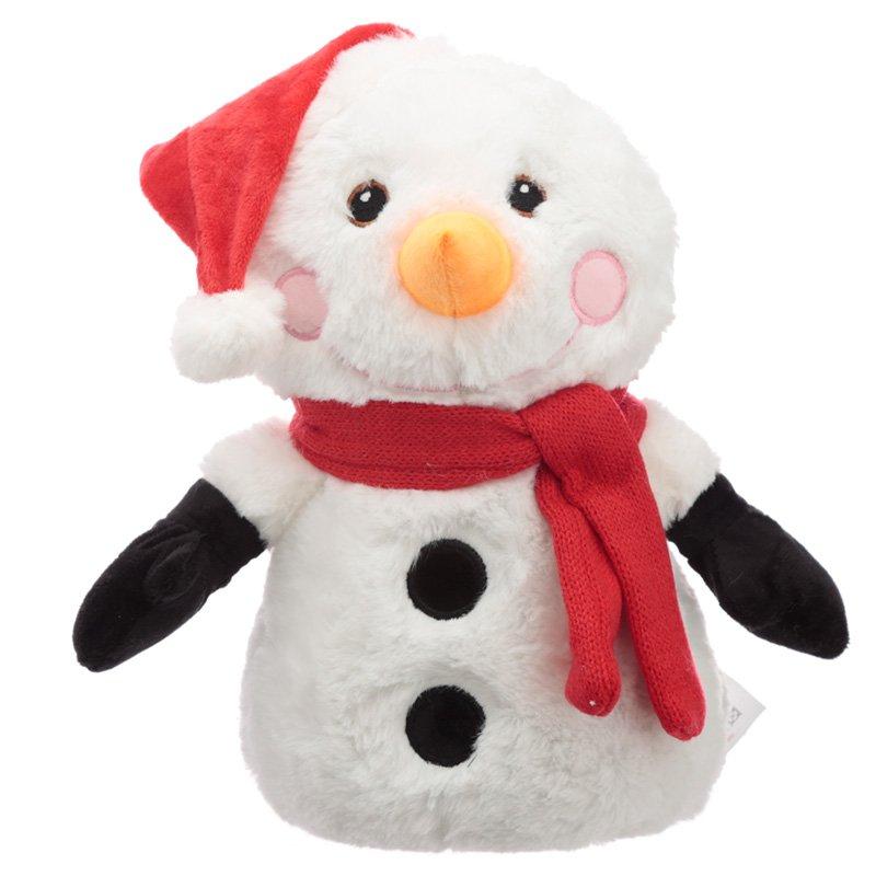 Fun Christmas Snowman Plush Door Stop