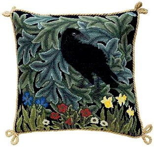 RAVEN Needlepoint KIT Beth Russell William Morris