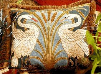 Swans Cushion Needlepoint Kit by Glorafilia (gl4174a)