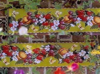 Strawberry Bellpull Needlepoint Kit by Glorafilia (gl5018)