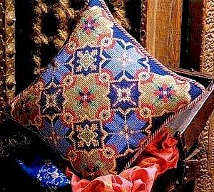 Moorish Tiles Cushion Needlepoint Kit by Glorafilia (gl4049)