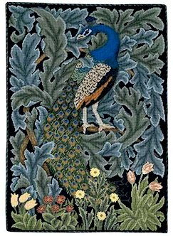 PEACOCK Needlepoint CANVAS Beth Russell William Morris