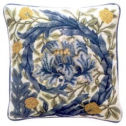 AFRICAN MARIGOLD Cushion Needlepoint CANVAS Beth Russell William Morris