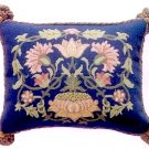 LODDEN 1 Blue background Cushion Needlepoint CANVAS Beth Russell William Morris