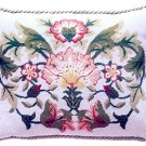 LODDEN 2 Grey background Cushion Needlepoint CANVAS Beth Russell William Morris