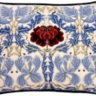 TULIP & ROSE Ivory Cushion Needlepoint CANVAS Beth Russell William Morris