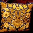 SUNFLOWER 1 Cushion Needlepoint CANVAS Beth Russell William Morris