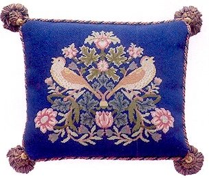 STRAWBERRY THIEF 4 Cushion Needlepoint KIT Beth Russell William Morris