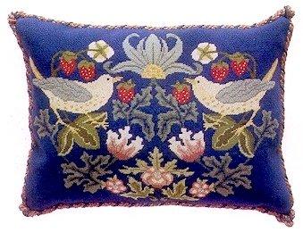 STRAWBERRY THIEF 3 Cushion Needlepoint KIT Beth Russell William Morris