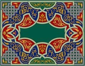 Arabesque Needlepoint Cushion Canvas (ar19-069c)