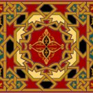 Arabesque Needlepoint Cushion Canvas (ar19-072c)