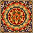 Arabesque Needlepoint Cushion Canvas (ar19-067c)