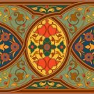 Arabesque Persian Needlepoint Cushion Canvas (ar19-054c)