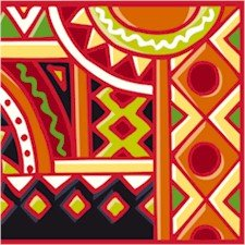 Collage Aztek Sun Needlepoint Canvas (ab1-20)