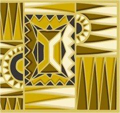 Collage Aztek Gold Needlepoint Canvas (ab1-23)
