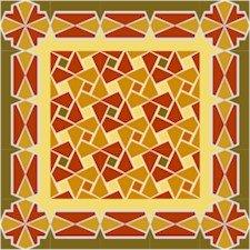 American Quilt Cushion Needlepoint Canvas (ar18-017c)