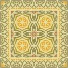 Art Nouveau Tile Needlepoint Rug Canvas Lena Lawson (ar18-019r)