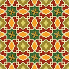 Arabesque Pattern  Needlepoint Canvas Lena Lawson (ar18-007clg)