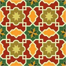 Arabesque Pattern Small Needlepoint Canvas Lena Lawson (ar18-007csm)