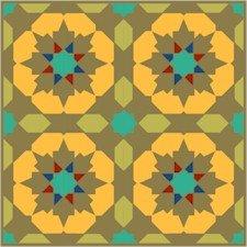 Arabesque Pattern Needlepoint Canvas Lena Lawson (ar18-085c)