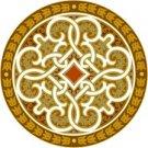 Arabesque Cushion Needlepoint Canvas Lena Lawson (ar22-010c)