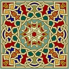 Arabesque Cushion Needlepoint Canvas Lena Lawson (ar19-063c)