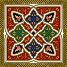 Arabesque Cushion Needlepoint Canvas Lena Lawson (ar19-043c)