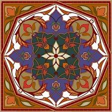 Arabesque Cushion Needlepoint Canvas Lena Lawson (ar19-046c)