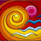 Abstract Waves Needlepoint Canvas (ab1-6)
