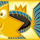 Abstract Happy Fish Needlepoint Canvas (ab1-25)