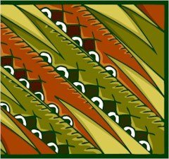 Abstract Feathers Needlepoint Canvas (ab1-3)