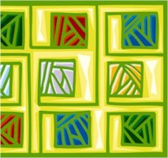 Abstract Tiles Needlepoint Canvas (ab1-17)