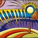 Abstract Moon Needlepoint Canvas (ab1-10)