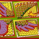 Abstract Wngs Needlepoint Canvas (ab1-11)