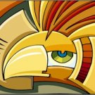 Abstract Eagle Needlepoint Canvas (ab1-1)