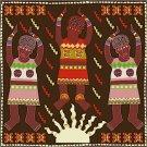 Sun Song African Folk Art Needlepoint Canvas (af1-1)