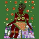 Woman African Folk Art Needlepoint Canvas (af1-4)