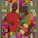 Man African Folk Art Needlepoint Canvas (af1-5)